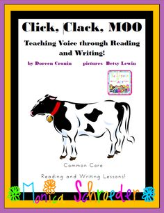 This file is a 20 page download that teaches the writing strategy of Voice through reading and writing activities that are aligned with the 2nd grade Common Core State Standards for ELA. Your students will gobble up personification and onomatopoeia with the books Click Clack Moo Cows that Type and Giggle Giggle Quack.  $3.99
