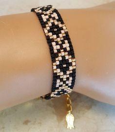 Miyuki bracelet, beads bracelet, loom beaded bracelet, friendship bracelet, birthday gift, seed beads bracelet, miyuki, gold bracelet by EternaJewelryStore on Etsy