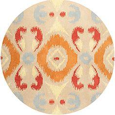 Hand-tufted Averlo OrangeRug (8' x 8' Round)