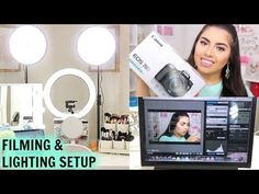 My Filming & Lighting Setup For Beauty Videos | Canon EOS 70d Camera Settings - YouTube
