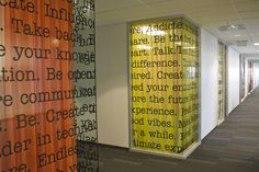 Sony Ericsson by Jason Summers, via Behance - vinyl type with colorful curtains!
