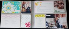 Recipe Book using the Project Life mini albums. Good inspiration for the book I'm planning to make with our own favorite go-to recipes.