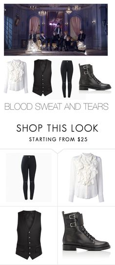 """Mila's casual wear Blood sweat and tears (BTS) edition"" by pantsulord ❤ liked on Polyvore featuring Chloé and Gianvito Rossi"