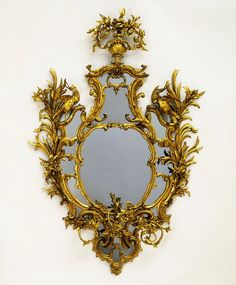 Mirror Date:1762-1765Carved and gilded pine, mirror glass and brass