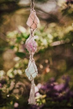 Car Accessories For Women, 1 Rose, Hanging Crystals, Crystal Rose, Unique Cars, Stones And Crystals, Boho Decor, Rose Quartz, Amethyst