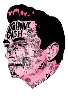 chrisbmarquez: Johnny Cash Artprint by Nick Cocozza - Get it
