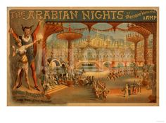 The Arabian Nights - Aladdin's Wonderful Lamp Poster Art Print by Lantern Press at Art.com