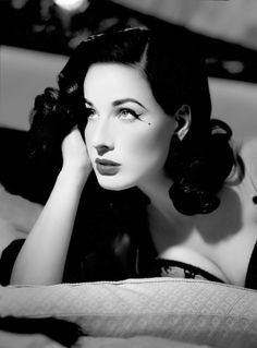 Dita Von Teese: Fabulously stylish, sirenly influential, and looking very Tara-like here to boot.