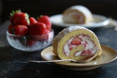 Back to the 80ies - Strawberry Roulade