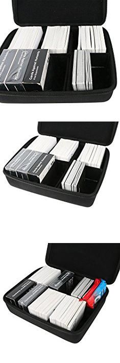 The Row Bags. Khanka Double Rows EVA Hard Case Travel Bag for C. A. H. Card Game with 5 Moveable Dividers, Black.  #the #row #bags #therow #rowbags