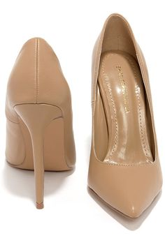 Click Your Heels Camel Beige Pointed Pumps at Lulus.com!