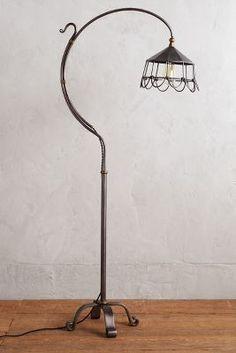Anthropologie Flowering Steel Floor Lamp