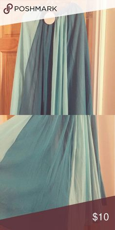 Two-Toned Teal Maxi Skirt Long Two-toned Teal Maxi Skirt....Light and flowy...perfect for that summer outing! Skirts Maxi