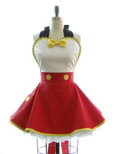 Retro Apron Ms. Mouse Womans Aprons Vintage Apron Style