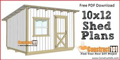lean to shed plans - free PDF plans. Shed plans.