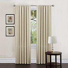 Lush Decor Ivory 84-inch Luis Curtain Panels (Set of 2)