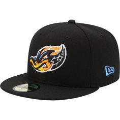 9615d321dec85 New Era Men s Akron RubberDucks 59Fifty Black Authentic Hat