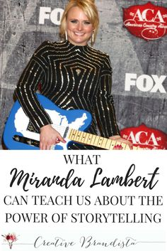 Strategies and tips for creative women and mompreneurs to use the power of storytelling to market an authentic online business. Inspiration for this blog post was taken from the social media accounts of country music singer Miranda Lambert. Follow me for more success tips, blogging and personal branding resources.