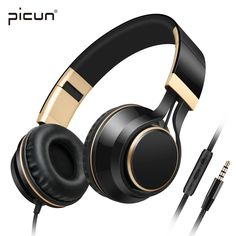 Picun I58 Strong Bass Headphones Noise Cancelling With Microphone Foldable Headsets with Volume Control for Smartphones PC Mp4 #Affiliate