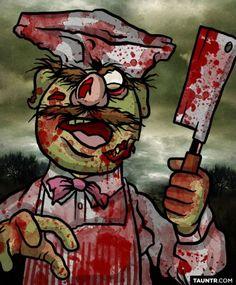 Jon Defreest's zombie Muppets: