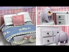 DIY LPS Bed - How to Make DIY LPS Furniture Crafts & Doll Crafts - YouTube