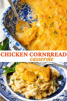 Cozy, down-home comfort food! This Farmhouse Chicken Cornbread Casserole is an easy dinner recipe that the whole family will love. The sweet cornbread topping is paired with a creamy, cheesy chicken filling for a classic, hearty supper that will warm you from the inside out. Cornbread Casserole, Sweet Cornbread, Fall Dinner Recipes, Supper Recipes, Fall Recipes, Dinner Ideas, Chicken Recipes, Chicken And Cornbread Recipe, Chicken Shit Recipe