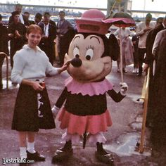 Mickey Mouse and Minnie Mouse at Disneyland, 1961