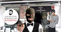 Guia para não ser roubado num restaurante ~ Por Falar Noutra Coisa