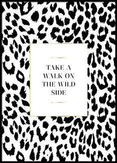 On the wild side Plakat i gruppen Plakater / Størrelser / 30x40cm hos Desenio AB (3181)