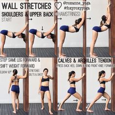 #Repost @roxanne_yoga ・・・ WALL STRETCHES ♡ You will see me doing this all the time whenever I see a wall because it just feels super good when I'm able to stretch conveniently and I almost instantly feel better and more relaxed. Here are some ways I like to open up my shoulders and upper back, stretch my chest and delts, and also my calves and archilles tendon. _ Hold deep breaths Between 10-15 breaths Stretch and move with your breath _ #foxyroxyyoga #practiceyogachangeyourworld