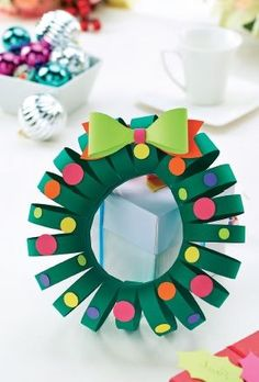 Simple Christmas Papercraft Wreath Template