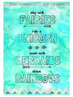 Fairies Unicorns Mermaids Rainbows Digital by HeartMadeByHome. This sounds like an awesome plan to me! Real Unicorn, Rainbow Unicorn, Unicorn Party, Unicorn Pics, Unicorn Pictures, Baby Unicorn, Unicorn Quotes, Mermaid Quotes, Mermaid Room
