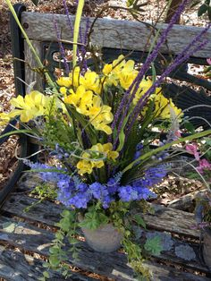 SPRING HAS SPRUNG Yellow Freesia and by CustomFloralDesigns