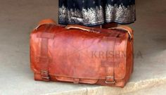 Leather duffle bag, Leather weekender, overnight travel bag, luggage, duffle, diaper bag