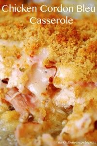 Recipe For  Chicken Cordon Bleu Casserole