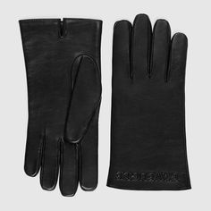 Embossed leather gloves - € 390
