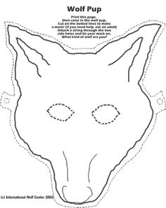 Wolf Mask to Color Cub Scouts Wolf, Tiger Scouts, Wolf Craft, Cub Scout Activities, Wolf Mask, Pig Crafts, Wolf Pup, Sr1, Wolf Pictures