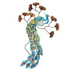 Blue Peacock Wall Art - Furniture, Home Decor and Home Furnishings, Home Accessories and Gifts | Expressions