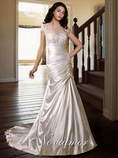 Brillante Robe Pour Mariée Sirène Mancheron BW1728