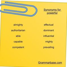 Synonyms for powerful