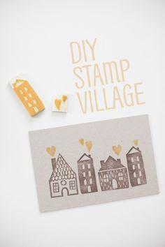 Tutorial | Stamp Carving a Village