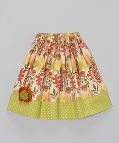 Look at this #zulilyfind! Green & Brown Acorn Skirt - Infant & Toddler by Heavenly Things for Angels on Earth #zulilyfinds