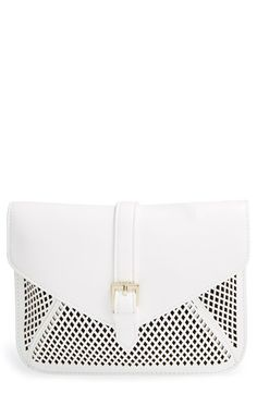 Big Buddha Perforated Faux Leather Crossbody Bag available at #Nordstrom