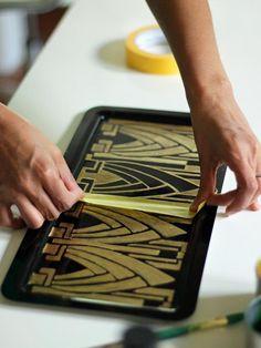 DIY Art Deco Vanity Tray :  http://www.hgtv.com/handmade/diy-art-deco-vanity-tray/index.html