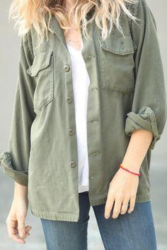 army jacket / vintage www.ascotandhart.com
