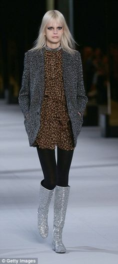Black tights appeared on the AW 14 catwalks of Saint Laurent