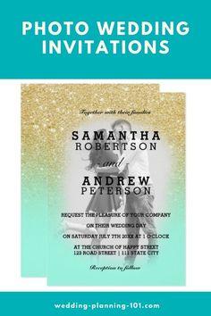 Get ideas and see photos of photo wedding invitations today! #PhotoWeddingInvitations #pictureWeddingInvitations #GlitterWeddingInvitations #PrettyWeddingInvitations #WeddingInvitationIdeas