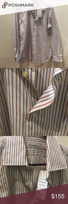 NWT Robert Graham Stripe Italy Button Down 15.5 39 NWT Robert Graham Stripe Made in Italy Button Down 15.5 39 100% Cotton Robert Graham Shirts Dress Shirts