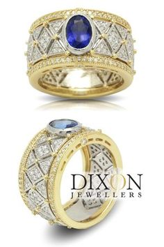 Custom Tanzanite and Diamond Wide Band Ring Canadian Diamonds, Wide Band Rings, Custom Jewelry, Diamond Rings, Bespoke, Custom Design, Sapphire, Jewels, Jewellery