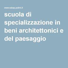 scuola di specializzazione in beni architettonici e del paesaggio